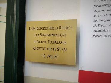 """Per una matematica accessibile: inaugurato il laboratorio """"Sergio Polin"""""""