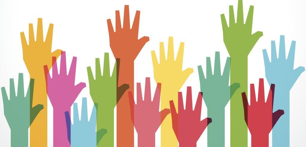 Disegno con mani alzate