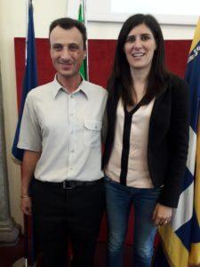 Il Disability Manager della Città di Torino, Franco Lepore, con la Sindaca Chiara Appendino