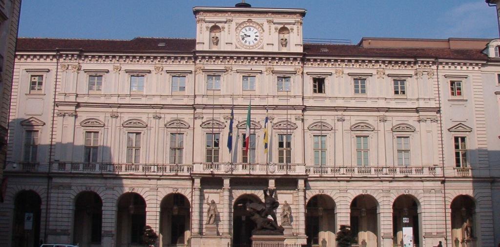 Facciata di Palazzo Civico, sede del Comune di Torino