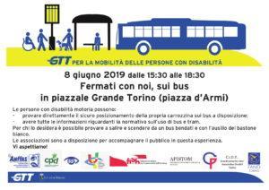 Locandina giornata 8 giugno GTT per la mobilità delle persone disabili