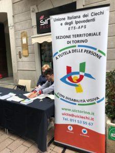 Lo stand UICI Torino alla Fiera della Contenta di Settimo Torinese