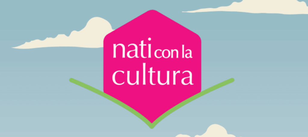 """Logo con scritta """"Nati con la cultura"""""""