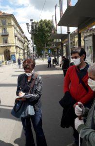 La disability maanager di Gtt, Rita Gambino, con i delegati UICi Torino