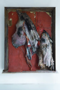 """Fondazione Sandretto Re Rebaudengo. Opera """"It is almost seemed a lily IV"""" dell'artista Berlinde De Bruyckere"""
