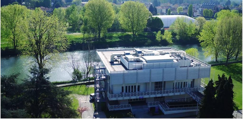Una veduta dall'altro del campus ITCILO a Torino
