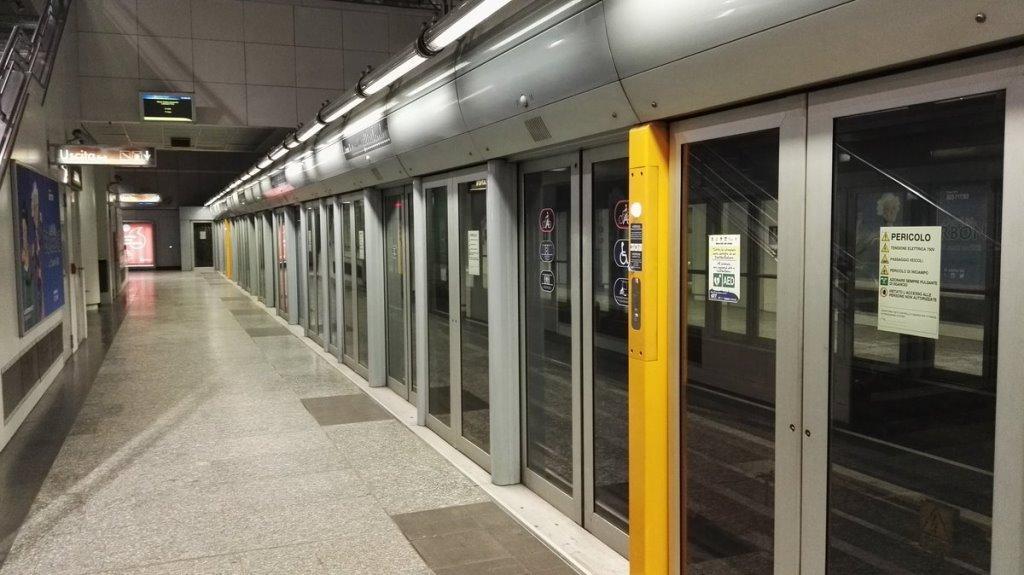 Una stazione della metropolitana di Torino