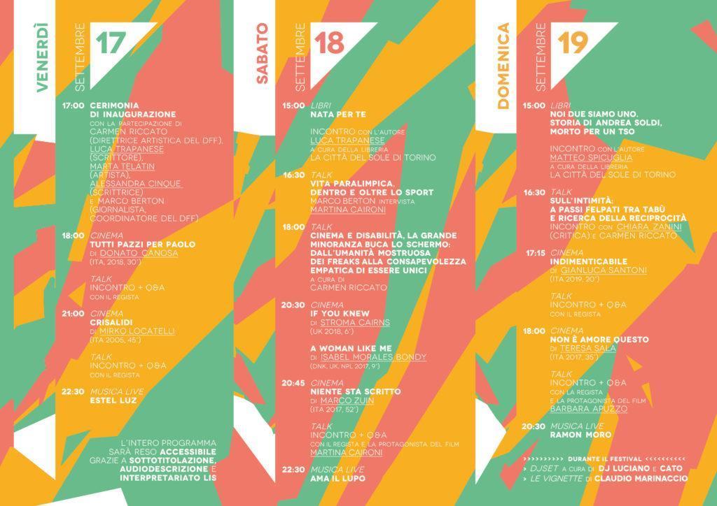 Interno locandina Disability Film Festival 2021 con programma